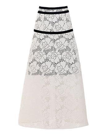 Falda De Terciopelo Primavera Moda Cinta Blanca Larga Sección De ...