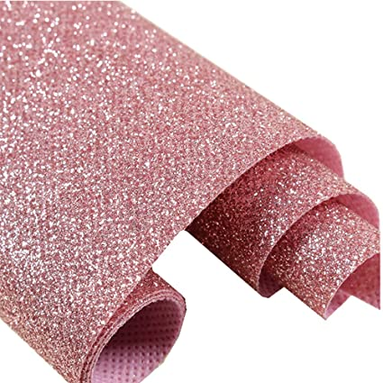Dhhouse Pink Glitter Wallpaper Sparkly Glitter Paper For Bedroom Store And Salon 27in X 16 4ft One Roll