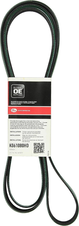 Serpentine Belt-FleetRunner Heavy Duty Micro-V Belt Gates K061077HD