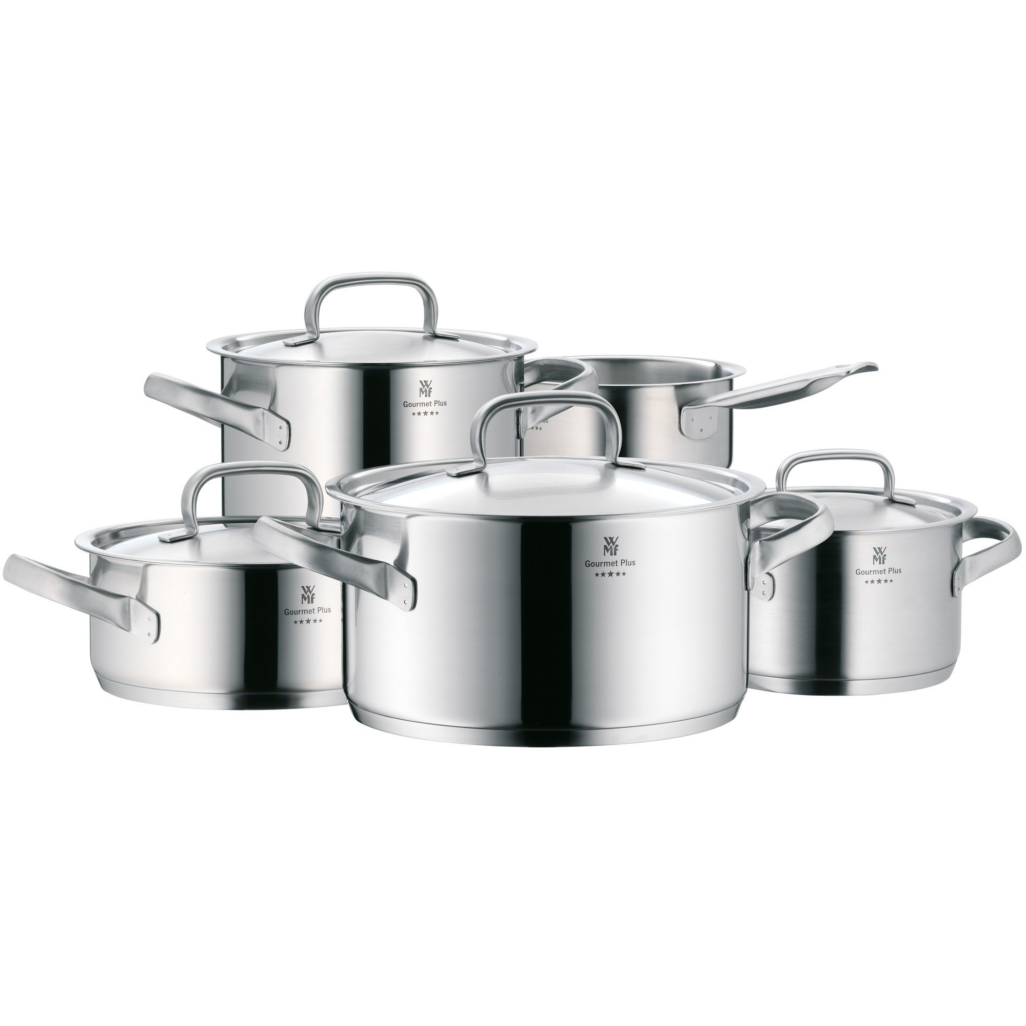 WMF Gourmet Plus-Batería de Cocina, Cromargan Acero Inoxidable, 5 Piezas product image