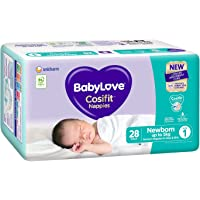 BabyLove Cosifit Nappies, Size 1 (0-5kg), 112 Nappies (4x 28 pack)