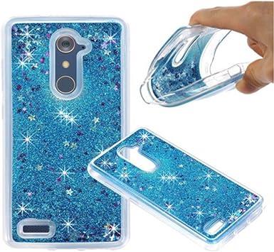 amh-glitter Crystal Clear – Carcasa para ZTE ZMAX Pro Z981, color azul: Amazon.es: Electrónica