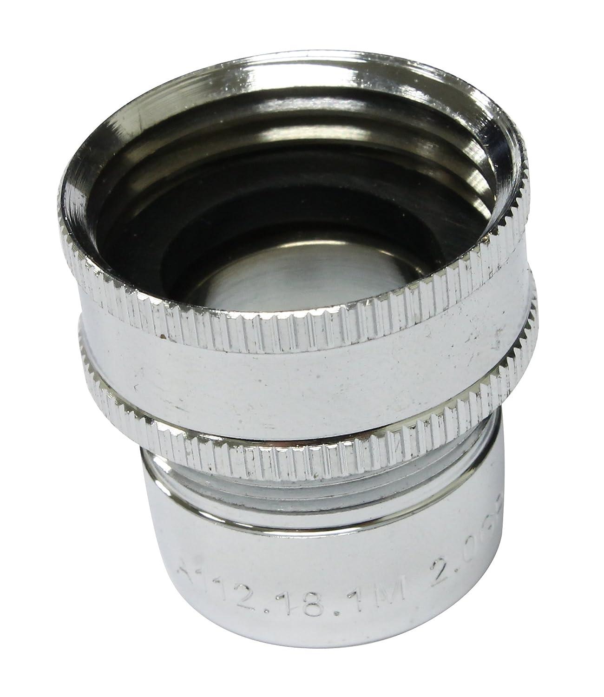 Plumb Pak PP800-17 Faucet Aerator, 3-3/4 in H X 1-7/8 in W, Quart, Gray