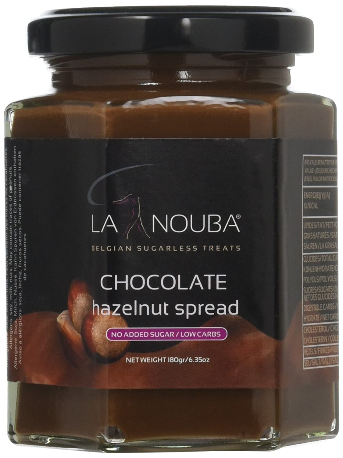 Amazon.com : La Nouba Sugar Free Spread, Chocolate Hazelnut, 6.35 Ounce : Grocery & Gourmet Food
