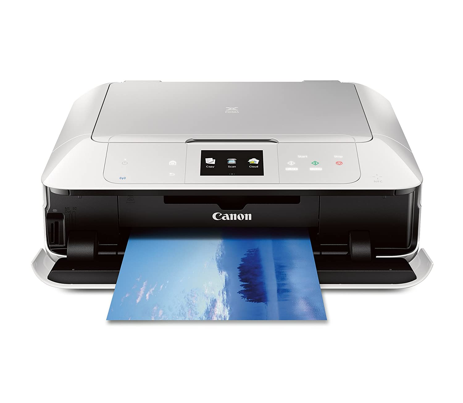 Color printer wireless - Amazon Com Canon Mg7520 Wireless Color Cloud Printer With Scanner And Copier White Discontinued By Manufacturer Electronics