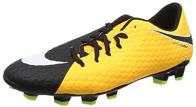 8bb7e49ed Nike Men's Hypervenom Phelon III FG Soccer Cleat Laser Orange/White /Black/Volt