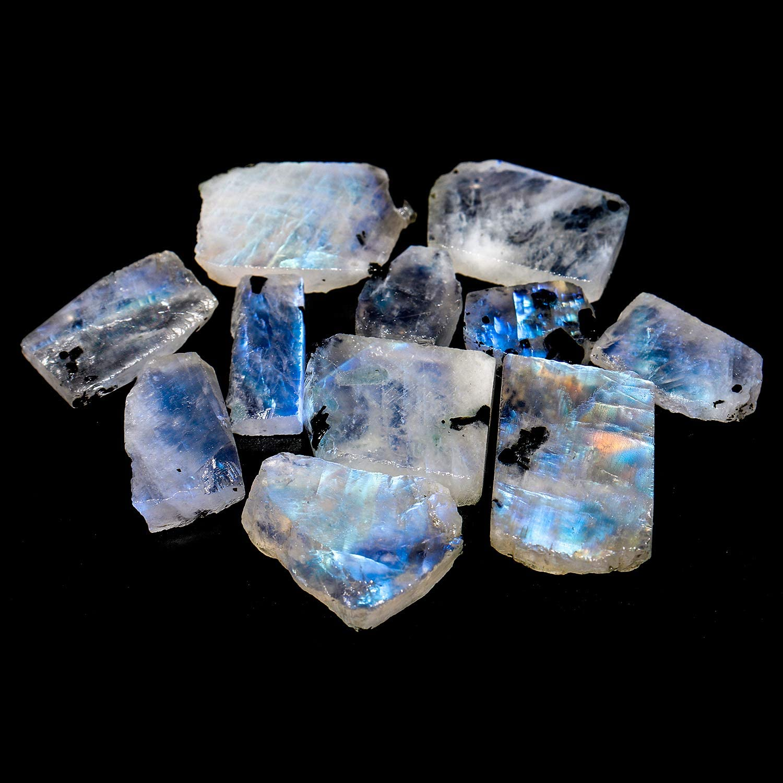 Set Of 10 Pcs Best Quality Blue Fire Rainbow moonstone 100/% Natural Rainbow Moonstone Hexagon Checker Cut Loose Gemstone For Jewelry