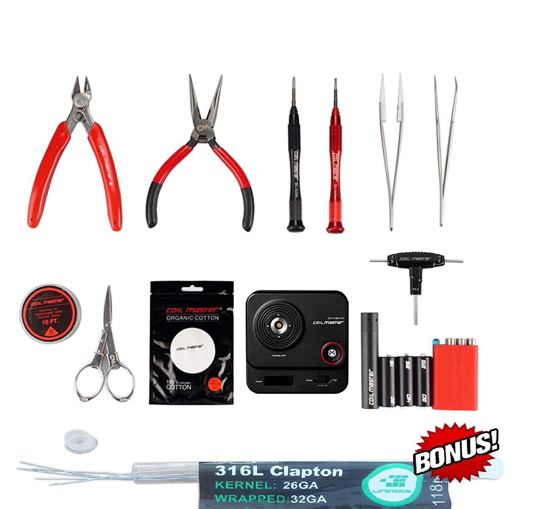 exklusive LifeMods Bundle Edition Coil Master 100/% authentische DIY KIT V3 Tool SET mit sp/ätesten Spule Jig V4 //NEU 521 Tab Mini-Ohm-Leser V2// Pinzette // hitzebest/ändige Draht NEUESTE Tool Kit