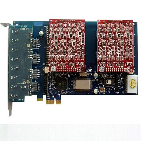 AEX800 con 8 puertos FXO,Tarjeta Asterisk PCI-E ,Elastix,Freepbx