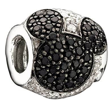 Amazon Com Authentic Chamilia Sterling Silver Disney Charm Jeweled