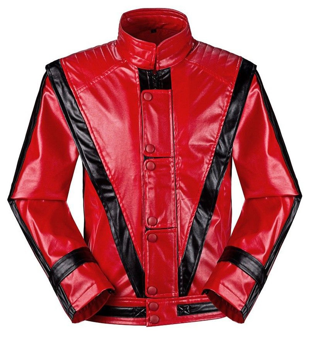 Michael Jackson Jacket Thriller Beat it Billie Jean MJ Jacket Dress Cosplay Halloween Party Coat (Weight:78-95kg H:5.9-6.3, Thriller)