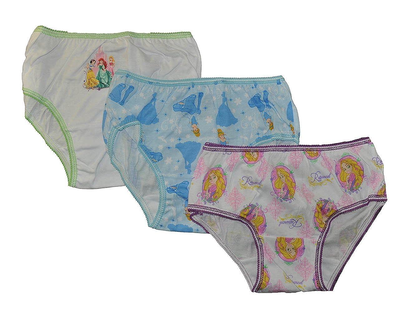 Disney Princess Little Girls 3 Pack Panties