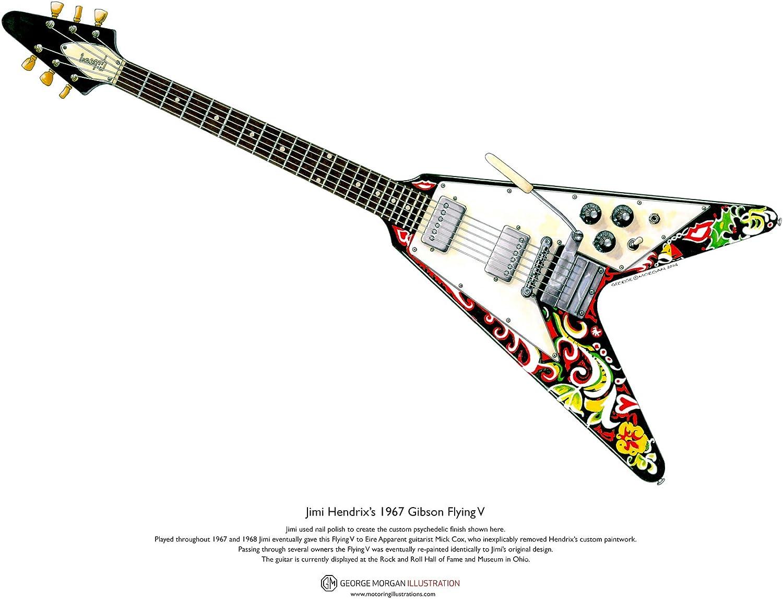 George Morgan Illustration Arte Cartel Guitarra de Jimi Hendrix ...
