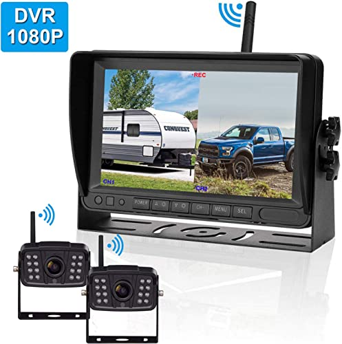 FHD 1080P Digital Wireless 2 Backup Camera for Horse Trailers