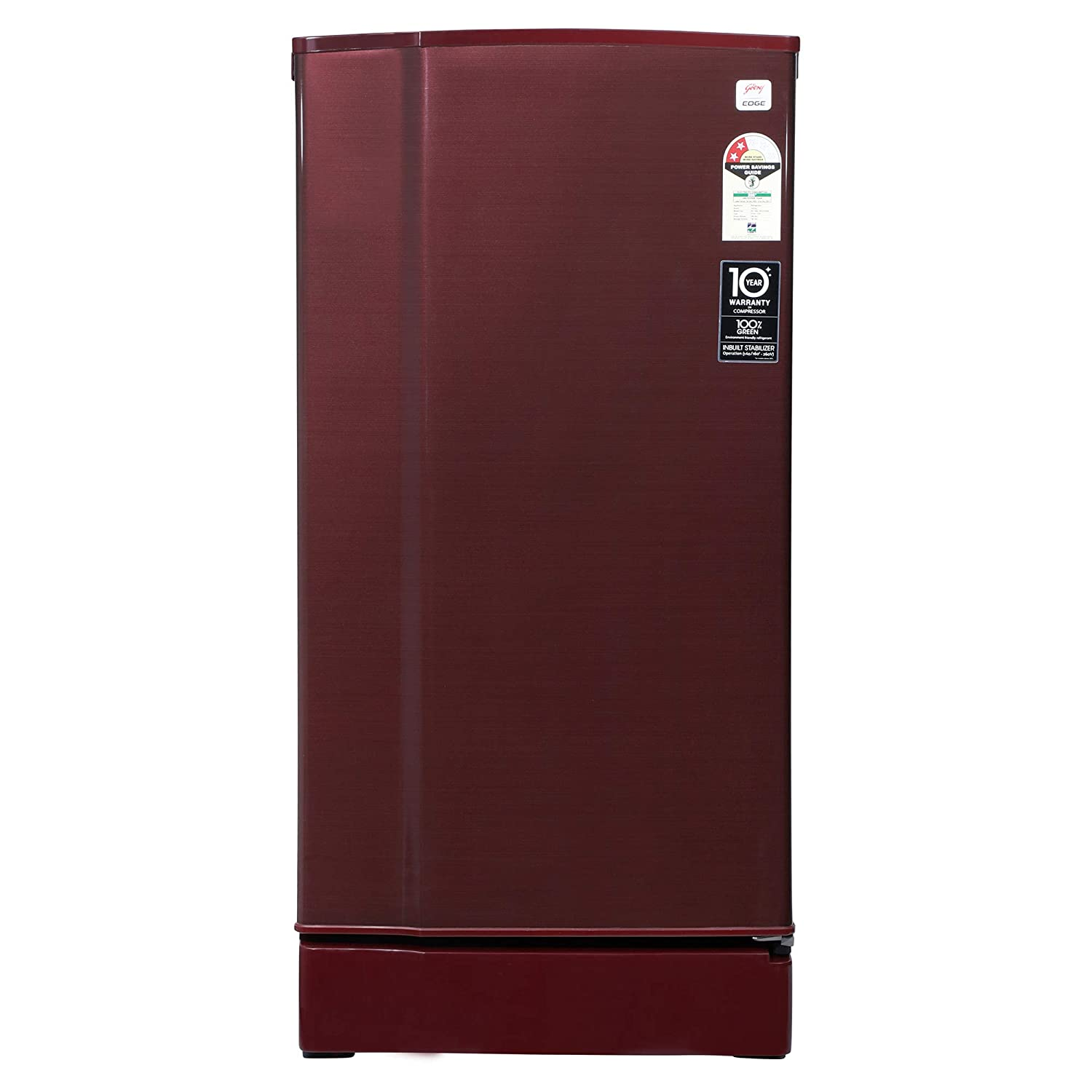Godrej 190 L 2 Star Direct-Cool Single Door Refrigerator (RD 1902 EW 23 STL WN, Steel Wine)
