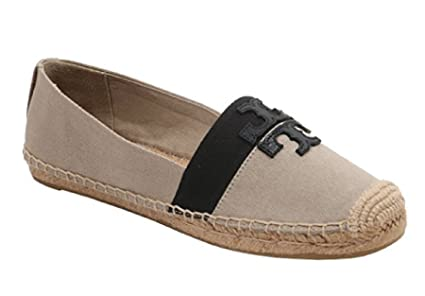 89e93370095 Image Unavailable. Image not available for. Color  Tory Burch Weston Flat  Espadrille Shoes Natural Black 7.5