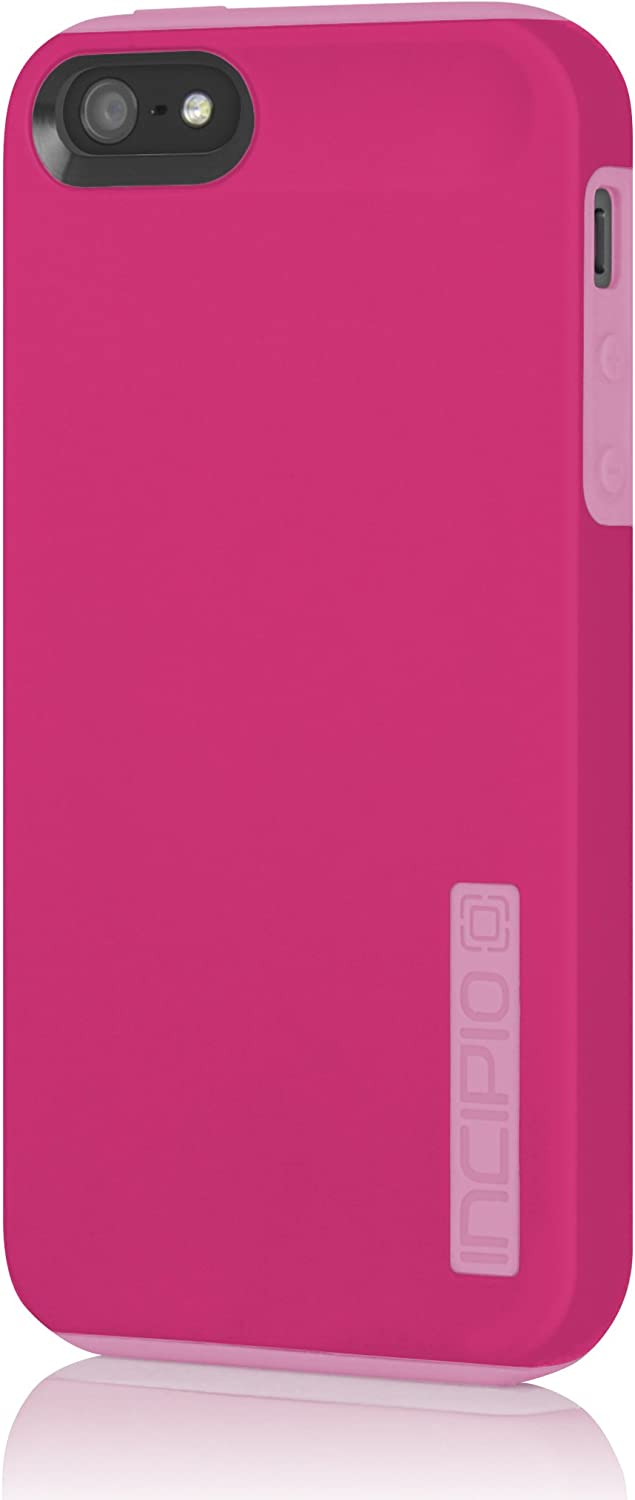 Incipio iPhone 5S Case, Dualpro for iPhone 5 5SE SE 2-Piece Tough Protection Hybrid Cover for Shock Absorption with TPU-Pink/Pink