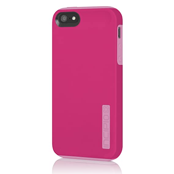 timeless design f98f1 6cf4f Incipio iPhone 5S Case, Dualpro for iPhone 5 5SE SE 2-Piece Tough  Protection Hybrid cover for Shock absorption with TPU-Pink/Pink
