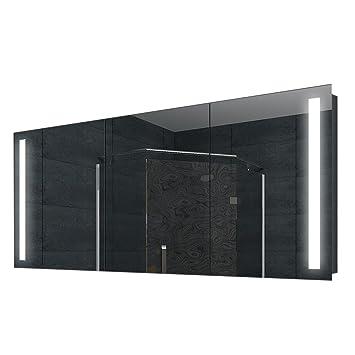 LED Badezimmer Spiegelschrank Bad Wand Schrank Alu Rahmen 160x68cm ...