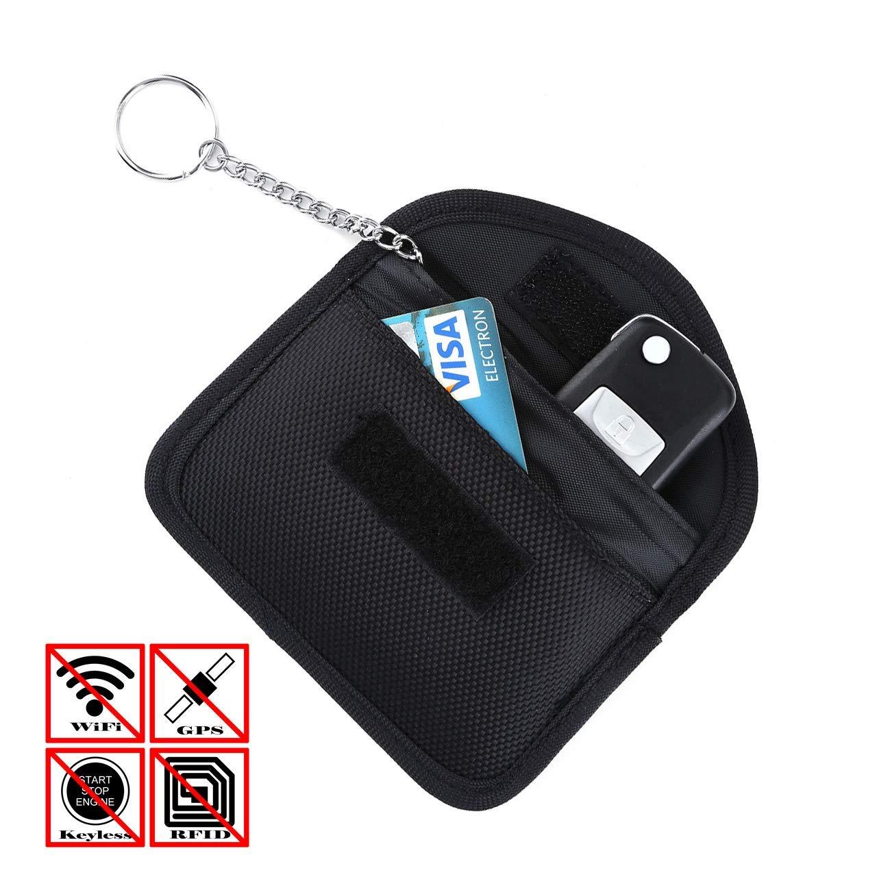 Keyless Go Schutz Autoschlüssel, ZOORE Aktualisierte Version Schutz Autoschlüssel Hülle & Zhülle Kreditkarte RFID Faraday Tasche, Verhindern Sie den Diebstahl Ihres Autos, RFID/NFC/WLAN/GSM/ Blocker