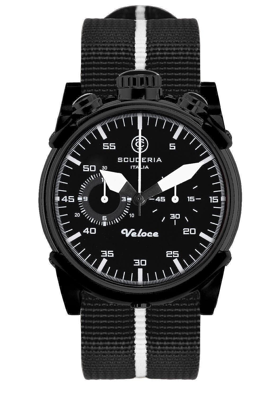CT Scuderia – CS10112 – 015 – Armbanduhr – Quarz Chronograph – Zifferblatt schwarz Armband Stoff schwarz