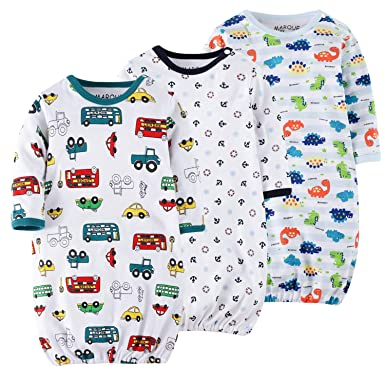 fd1906ee3 Dinosaurs/Cars/Anchor Baby Boys Sleep Gown - 100% Cotton Soft Lightweight No
