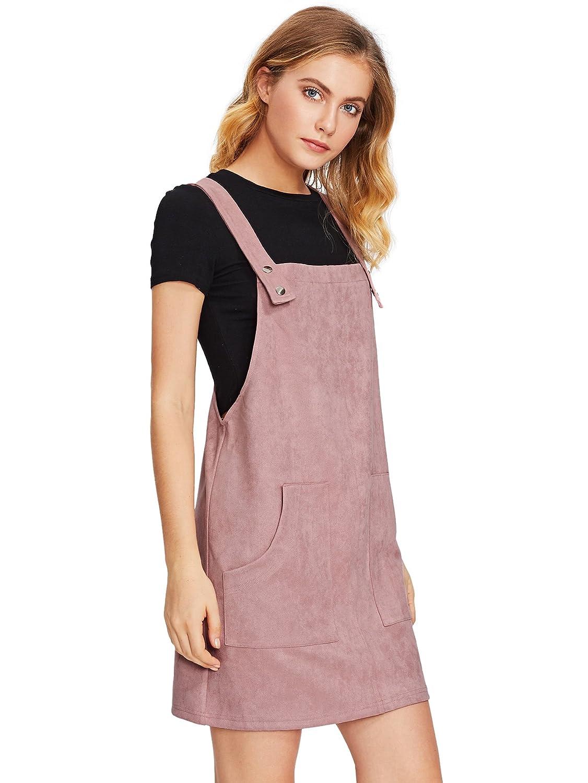 f537bfda185 MakeMeChic Women s Bid Strap Pocket Dungaree Mini Overall Dress  Amazon.ca   Clothing   Accessories