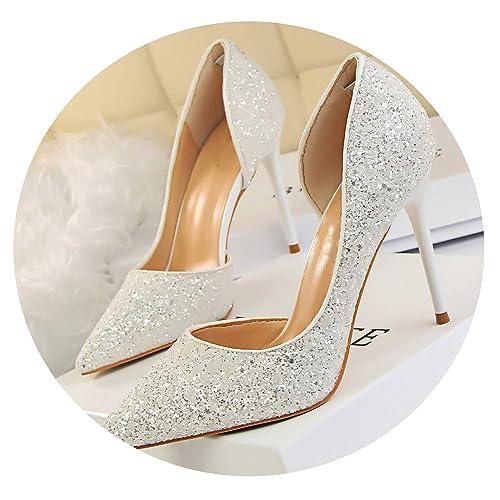 c802ba8488f Amazon.com | Women Pumps Bling High Heels Women Glitter High Heel ...