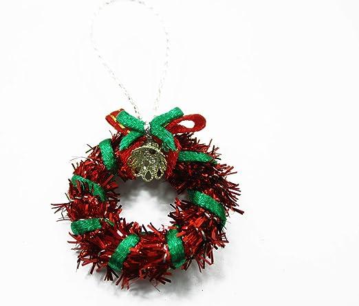 1:12 DollHouse Christmas Garland Decoration Bow Bell DIY Mini Home Decor Gift*~*