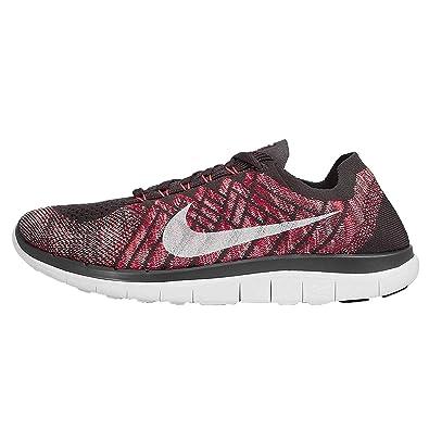 cheap for discount 258c8 a7b97 Nike Mens Free 4. 0 Flyknit, Midnight FogBright Crimson-HOT Lava