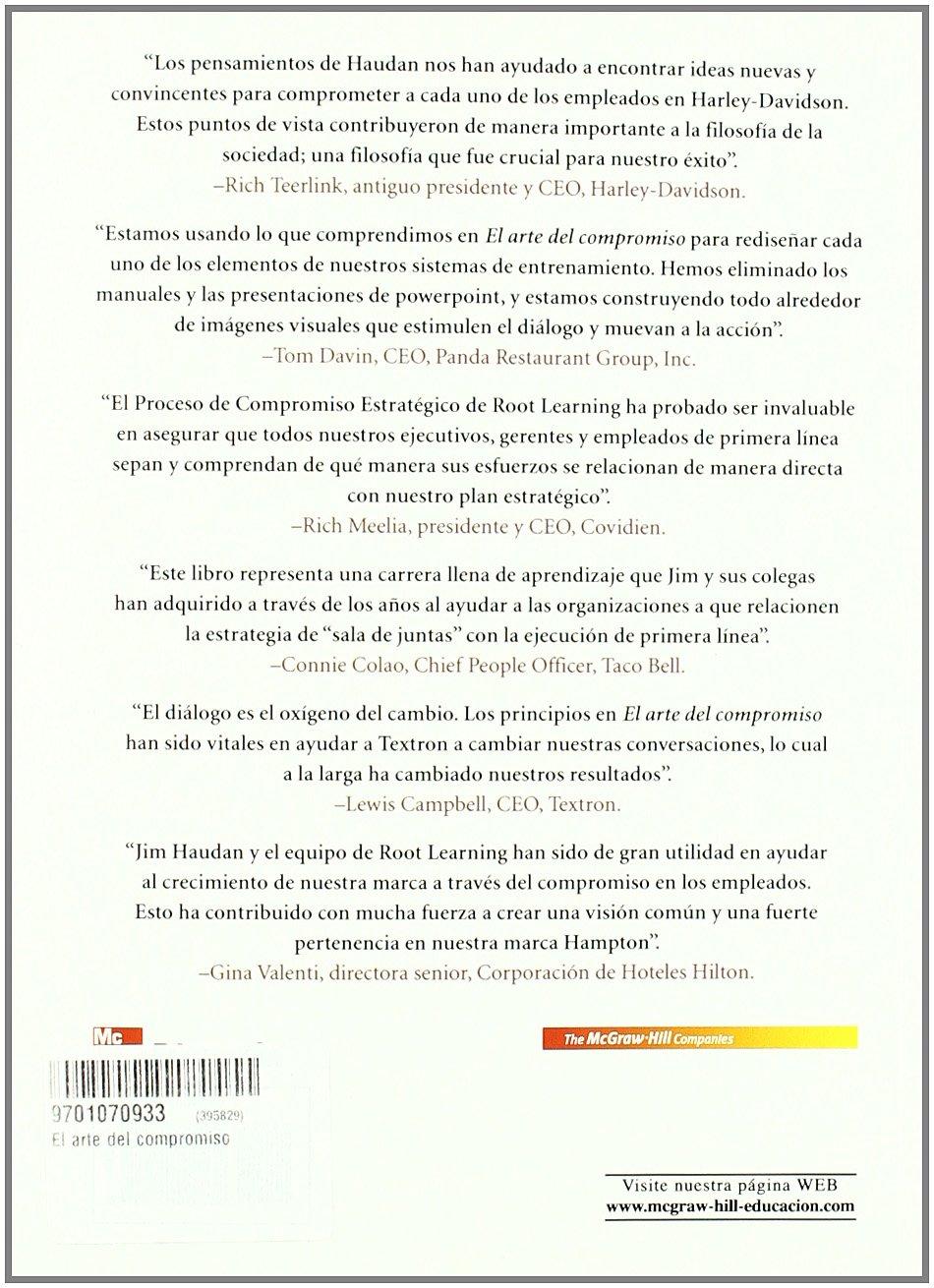 El Arte Del Compromiso (Spanish Edition): Jim Haudan: 9789701070932 ...