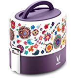 Vaya Tyffyn 600 ml Insulated Lunch Box - Stainless Steel Leak-Resistant Food Storage Container