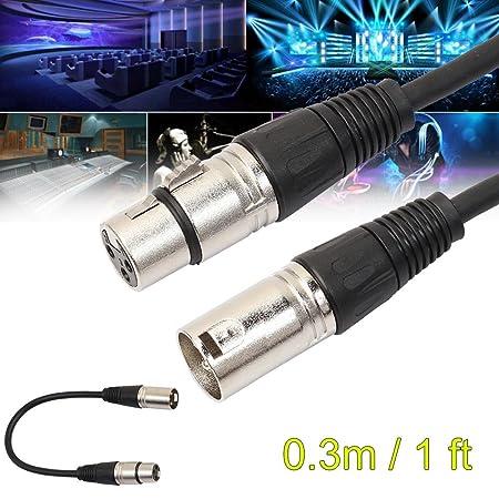 per microfono lunghezza 30 cm con 3pin XLR da maschio a femmina Broadroot cavo audio schermato di estensione