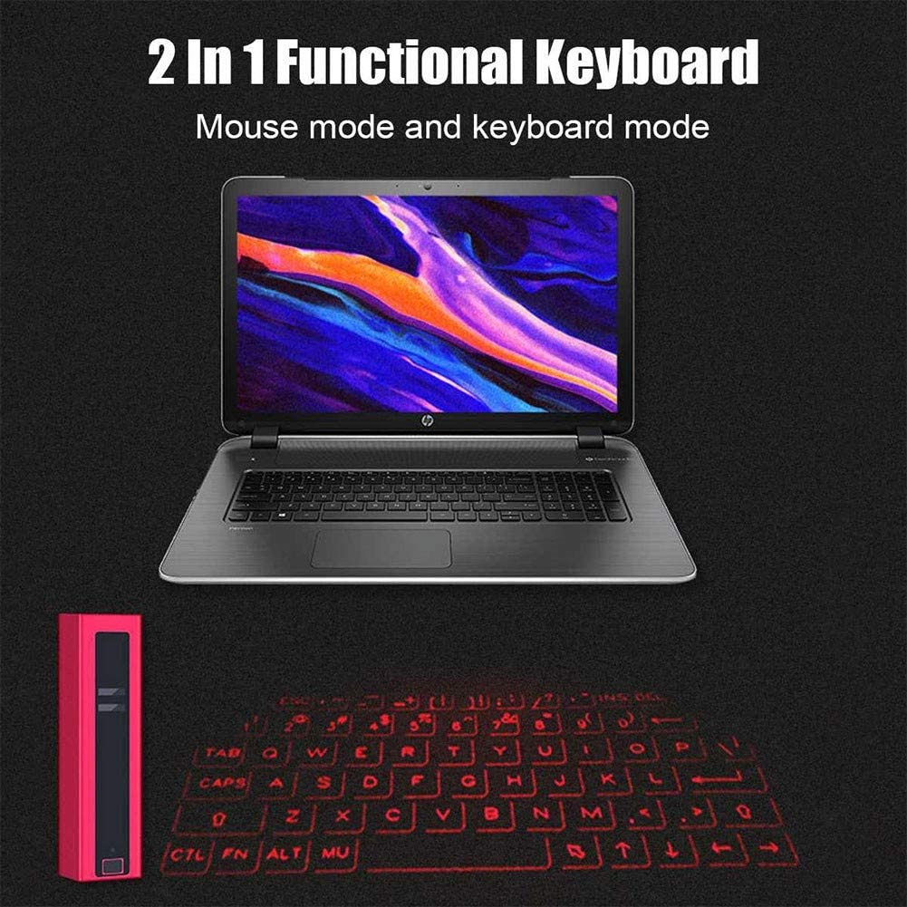 Nwlgl Laser Projection Keyboard Bluetooth Portablepink