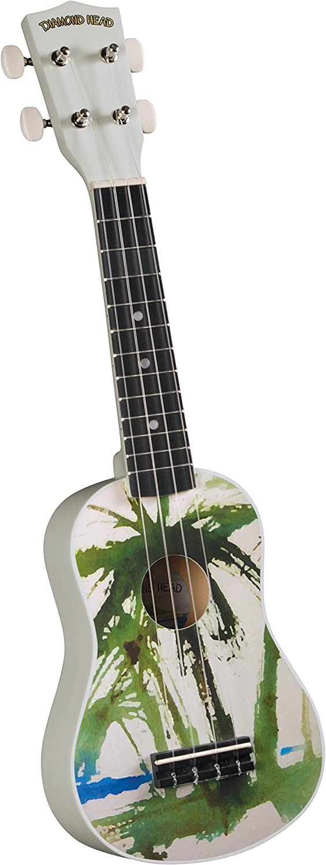 Diamond Head Palm Tree Soprano Ukulele Satin Finish DU-132