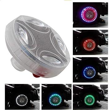 MASO Flash Luz de rueda, colorido LED Solar Rueda Hub Neumáticos Luz Capvula de neumático