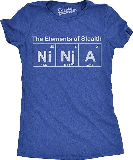 Crazy Dog Tshirts - Womens Ninja Element T Shirt Funny ...