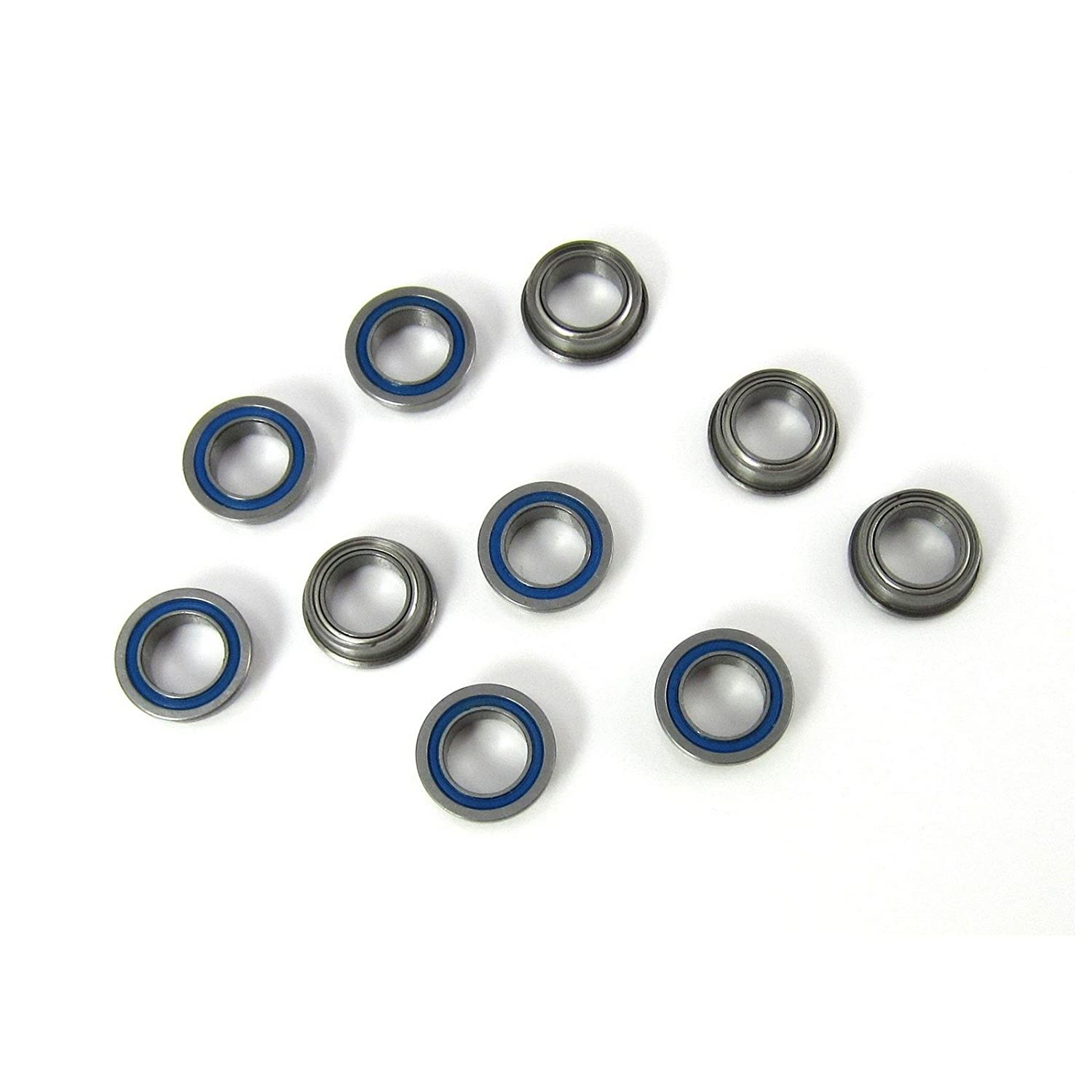 1/4x3/8x1/8 Flanged Precision Ball Bearings ABEC 5 Hybrid Seals (10) TRB RC