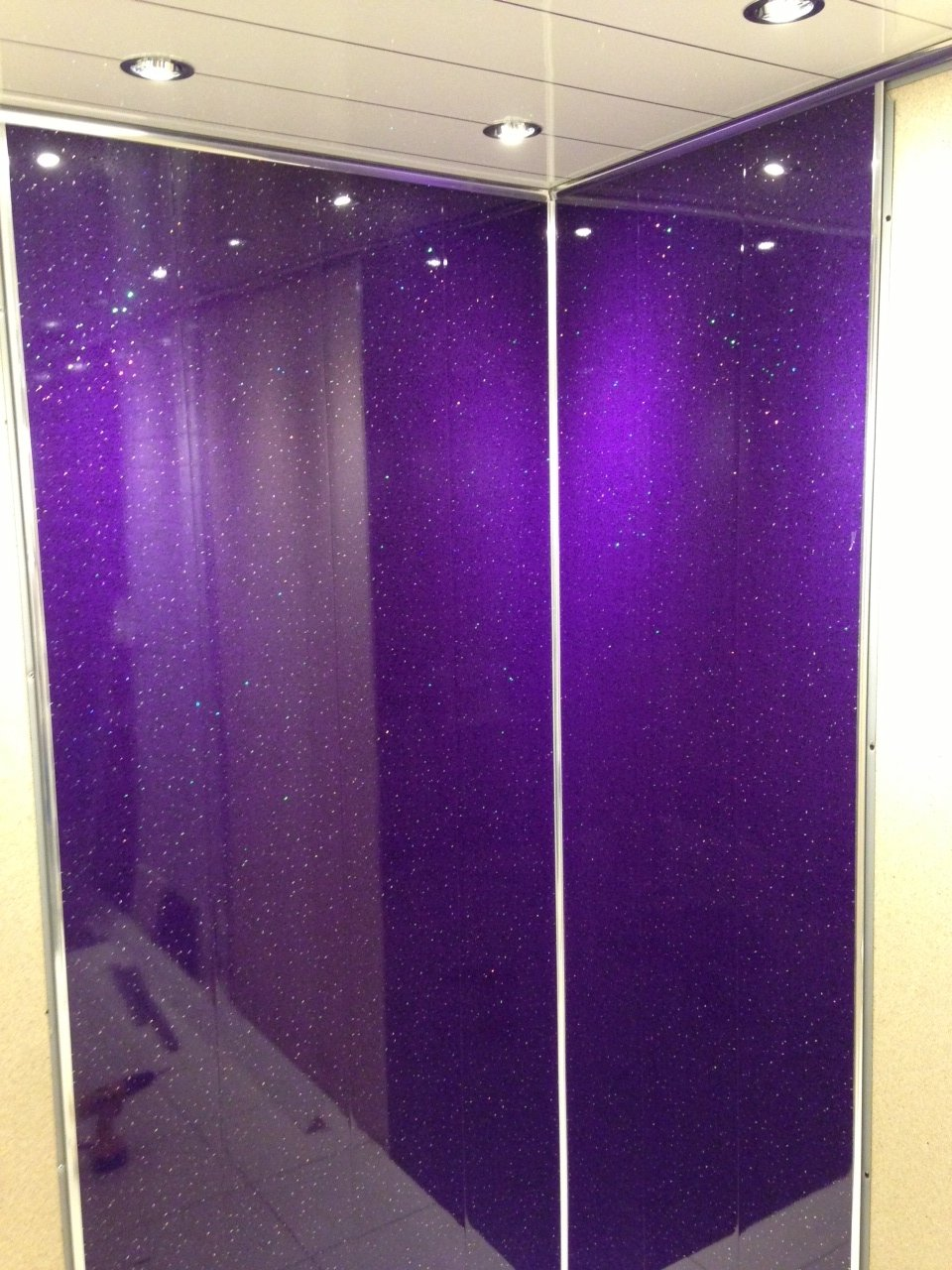Home purple sparkle - 5mm Purple Diamond Stone Wall Panels Ceiling Panels Aka Purple Sparkle Tongue And Grooved Ideal For Your Bath Shower Walls Going Over Tiles And On Your
