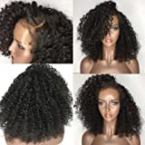 Wigs Short Curly Glueless Lace Front Wigs L Part Heat Resistant Synthetic Hair Replacement For Women Half Hand Tied