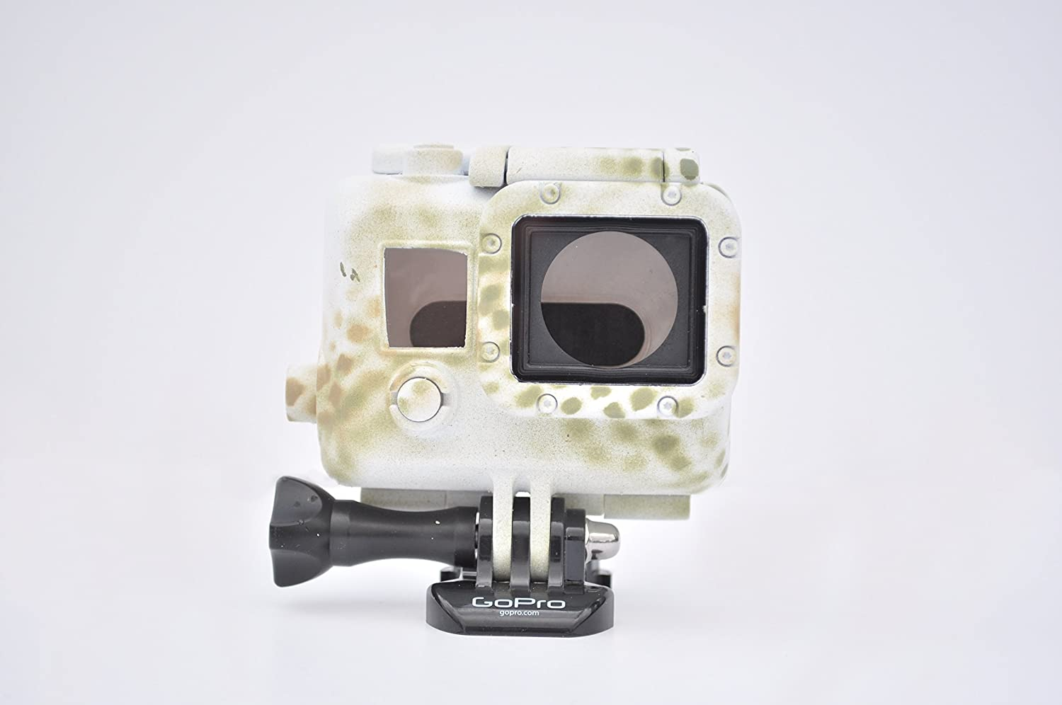 Winter Camouflage Camo Waterproof Housing for GoPro Hero 3 3+ 4 White Silver Black by StuntCams