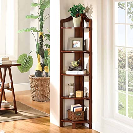 Amazon.com: Bookshelf Bookcase European Bedroom Corner Stand Floor ...
