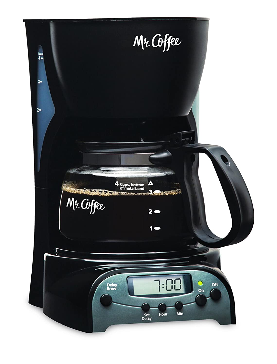 Mr. Coffee 4 Cup Programmable Automatic Drip Coffee Pot Maker Brewer 72179228134 eBay