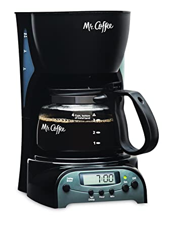 Mr. Coffee 4-Cup Programmable Coffee Maker, Black DRX5-RB