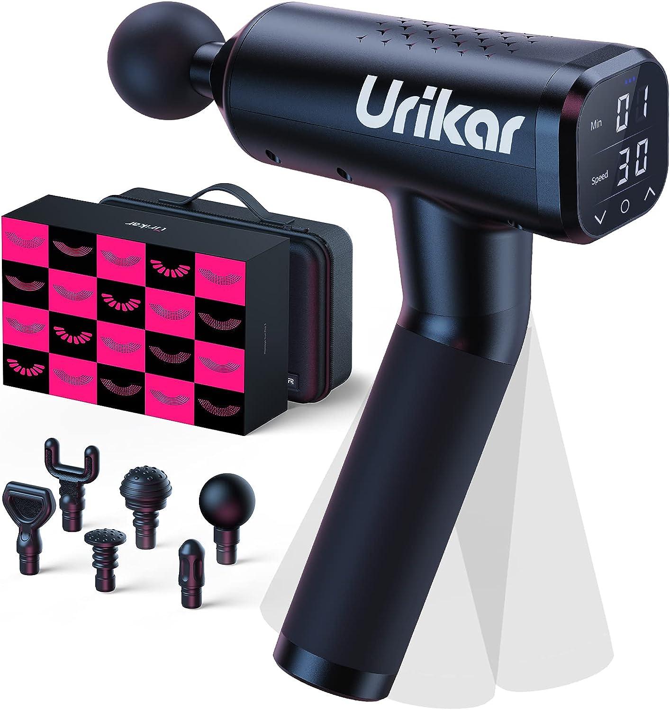 Urikar Pro 3 Massage Gun (w/ 30 Speeds, 6 Massage Heads & Timer)$99.99  Coupon