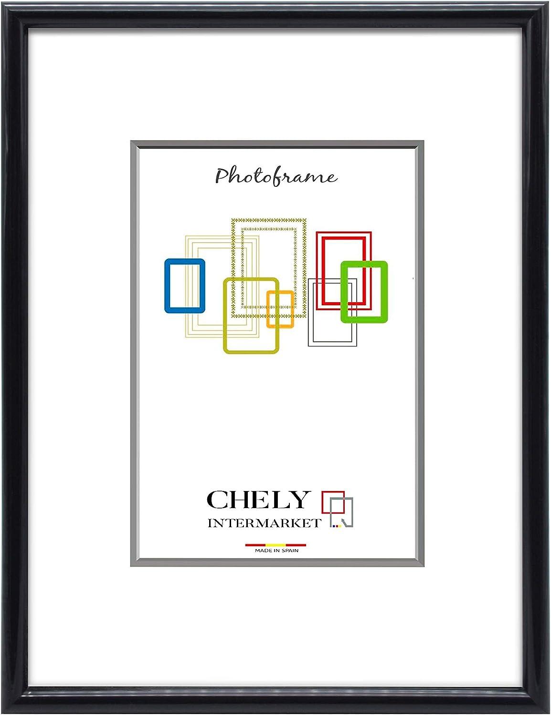 Chely Intermarket, Marcos de Fotos 20x30cm (Negro) MOD-312. Marco de Fotos para Decoración de Casa | Fotografías de Boda | Listado de Precio | Certificados universitarios(312-20x30-0,40): Amazon.es: Hogar