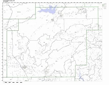 Amazon.com: Pushmataha County, Oklahoma OK ZIP Code Map Not ...