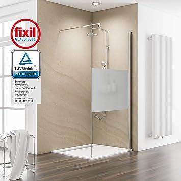 Schulte Mampara Walk In 100 x 200 cm ducha pared 6 mm cristal con ...