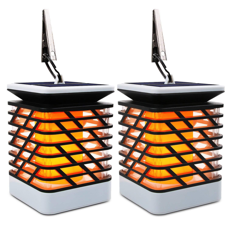 Outdoor Solar Light with Flickering Flame Lighting, Wireless Decorations/Landscape Led Solar Torch Light Lantern Garden Patio Lawn Yard, Waterproof Powered Solar Spotlights Decor Driveway Dusk To Dawn