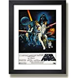 Quadro Star Wars Darth Vader Cinema Filme Tv Poster Classico Moldura Paspatur Pronto para Pendurar